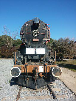 Train, Wagon, Old, Locomotive, On, Antique, Ray