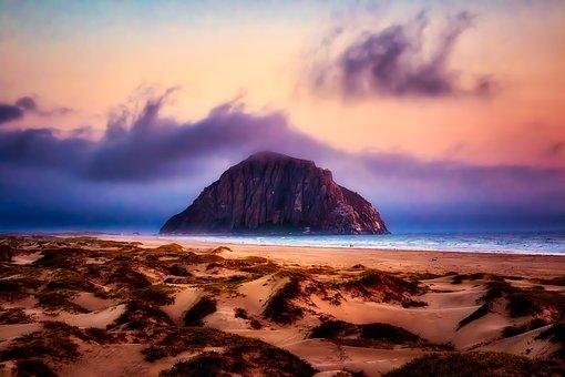 Morro Bay, California, Sea, Ocean, Pacific, Seashore
