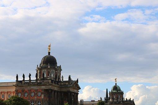 Castle, Frederick The Great, Closed Sanssouci, Potsdam