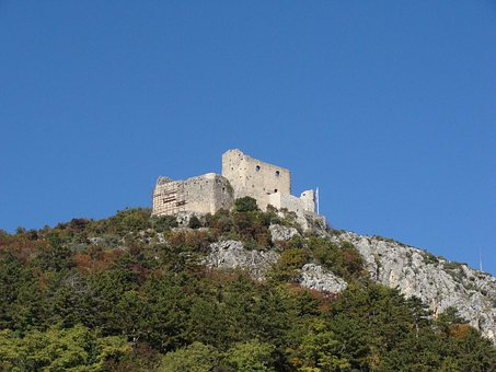 Castle, Tower, Ruins, Hill, Hilltop, Top, Stone
