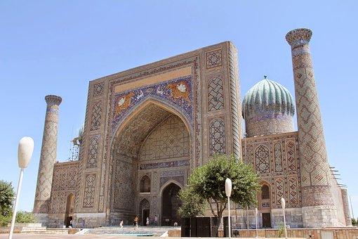 Uzbekistan, Mosque, Samarkand, Registan