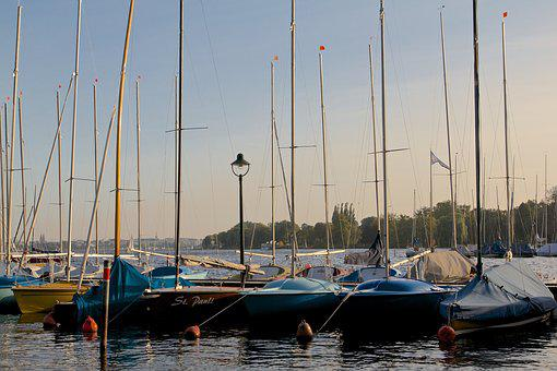 St Pauli, Alster, Water, Hamburg, Lake, Germany