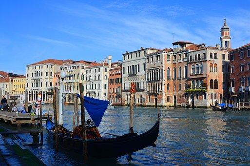 Venice, Italy, Street View, Buildings, Italian