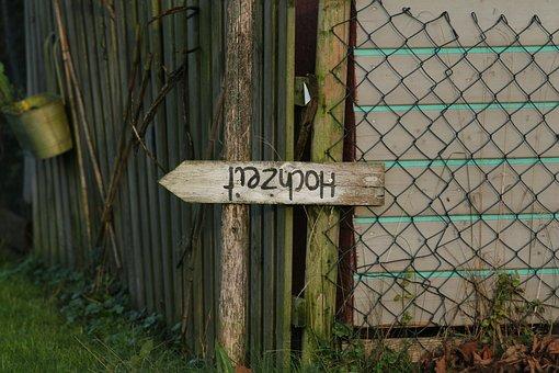 Board, Shield, Wedding, Fence, Note, Wood
