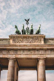Brandenburg Gate, Berlin, Goal, Landmark, Building