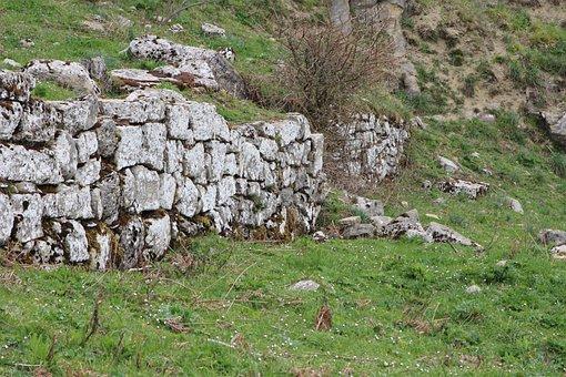 Wall, Barrier, Bricks, Stone, Prehistory, Nature