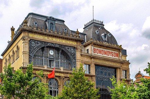 Building, Architecture, Gent, Gan