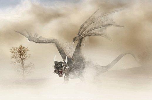 Dragon, Mystical, Digital, Art, Photoshop
