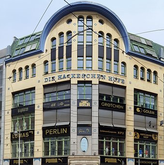 Hackesche Höfe, Berlin, Facade, Building, Historically