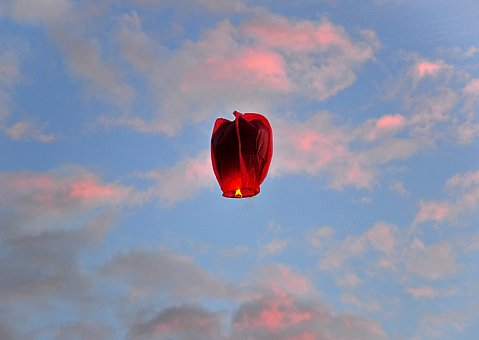 Lantern, Lanterns Luck, Happiness, Candle, Flying