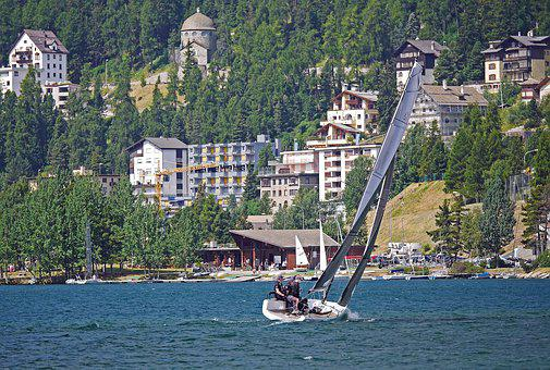Hard On The Wind, In Front Of St Moritz, Regatta