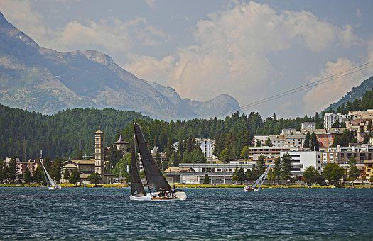 Sailing In Front Of St Moritz, Regatta, High Inntal