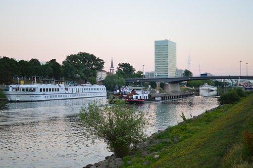 Mannheim, Neckar, Bridge, Kurpfalz Bridge