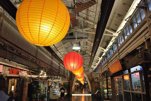 Lanterns, Chelsea Market, New York City, Industrial