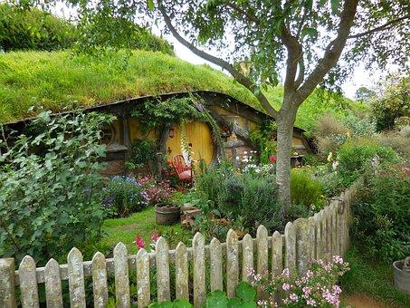 Hobbiton, Door, Fence, Movie Set, New Zealand