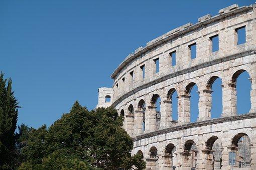 Amphitheater, Ruin, Romans, Architecture, Building