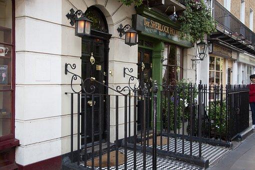 Sherlock, Sherlock Holmes, Holmes, London, Door Sign