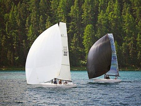 Lake St Moritz, Sail, Regatta, Back Wind, Spin Acker