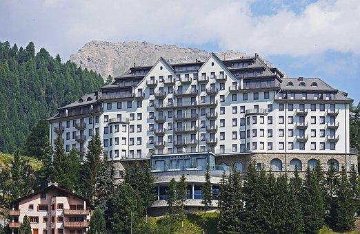 Switzerland, St Moritz, The Hotel Complex