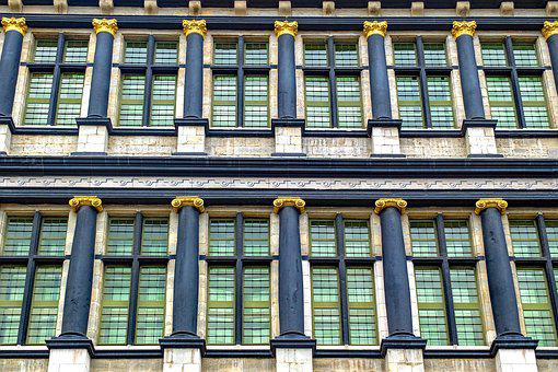 Building, Facade, Gent, Gand, Mairie, Town Hall