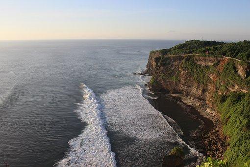 Uluwatu, Waves, Ocean, Temple, Cliffs