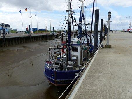 Ebb, Fishing Vessel, Port, North Sea