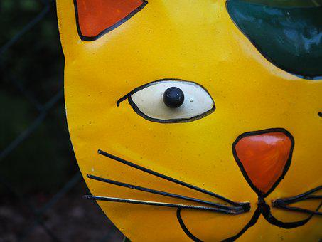 Garden Decoration, Cat, Metal, Decoration, Figures