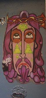 Graffiti, Jesus, Street Art, Grunge, Ink, Artwork