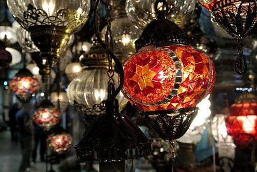 Mosaic, Lamp, Turkish, Istanbul, Grand Bazaar, Ottoman