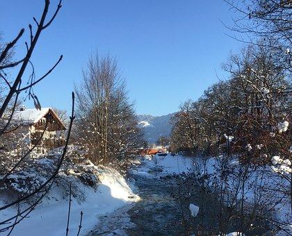 Garmisch, Partnach, Winter