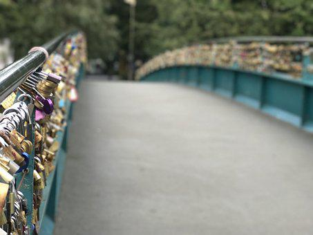 Love, Locks Bridge, Bakewell, Bridge, Romance, Lock