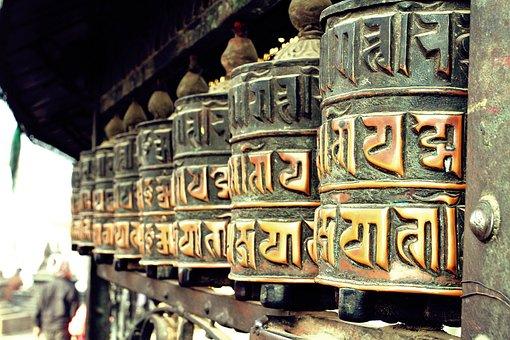 Buddha, Peace Wheel, Travel, Nepal, Swayambhu