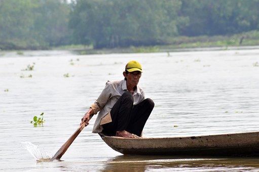 Traditional, Vietnam, Fishing, Vietnamese, Travel