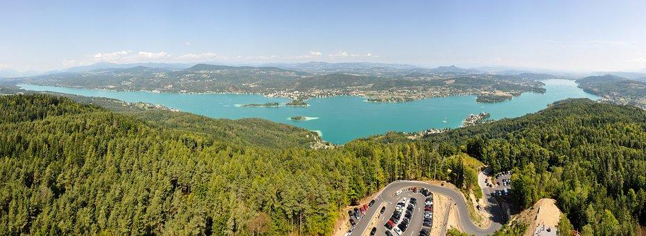 Klagenfurt, Wörthersee, Water, Austria, Viewpoint
