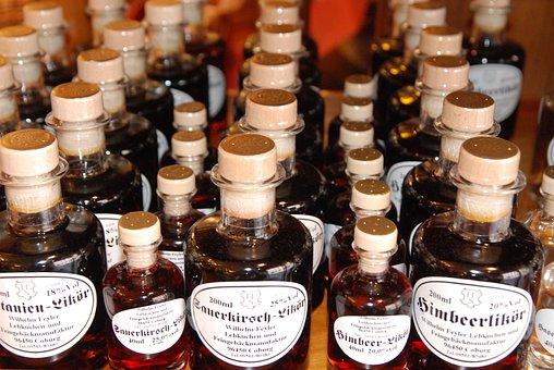 Bottles, Liqueur, Alcohol, Benefit From, Sale