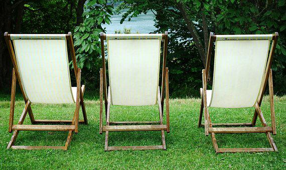 Deckchair, Deck, Chair, Three, Seating, Seat, Empty