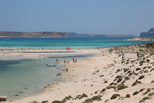Beach, Island Of Crete, Greece, Holiday, Water, Sea