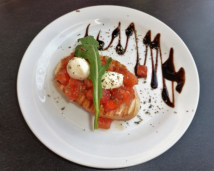 Food, Fresh, Healthy, Italian, Bruschetta, Tomato