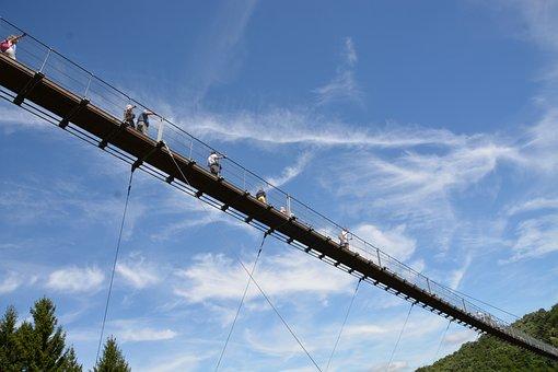 Suspension Bridge, Hunsrück, Hiking, Risk, Geierlay