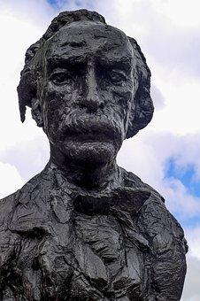 Statue, Bronze, Poet, Writer, Multatuli, Amsterdam