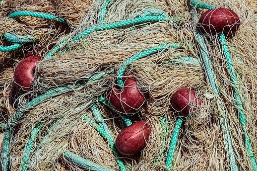 Net, Fishing, Fishing Net, Floaters, Equipment