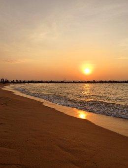 Sunset, Sri Lanka, Beach, Sand, Sea, Ocean, Sri, Lanka
