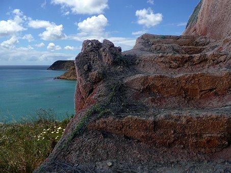 Rocky Coast, Stone Stairway, Algarve