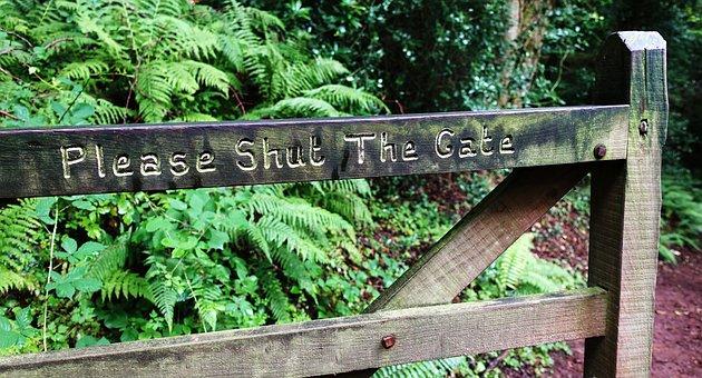 Shut, Gate, Open, Message, Security, Password, Hack