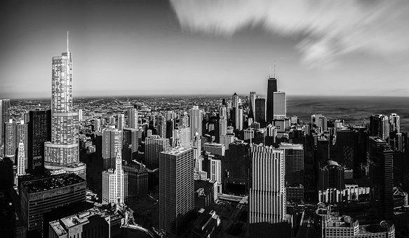 Chicago, Us, Skyscraper, Skyscrapers, The Sky, City