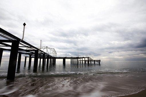 Iskele, Marine, Storm, Daniel, Rusty, Deserted, Beach