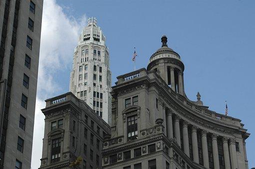 Chicago, Sun Times Building, Business, Urban, Landscape