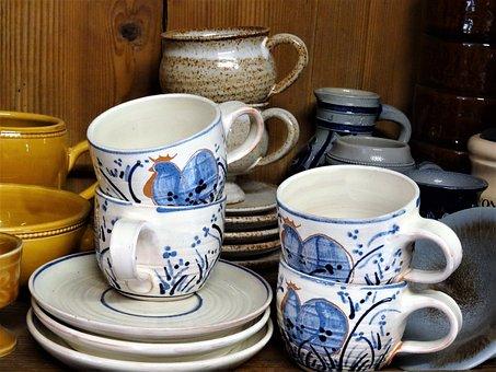 Tableware, Nostalgic, Old Dishes, Kitchen Equipment