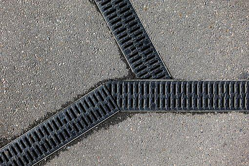 Drain, Grill, Grid, Three, Pattern, Drainage, Track