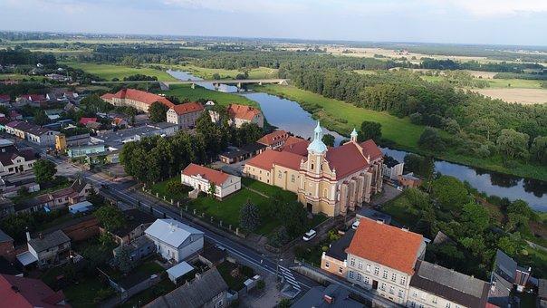 Pyzdry Pyzdry, Monastery, River, Water, Warta, Tourism